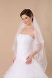 Retrato da senhora com véu branco Foto de Stock Royalty Free