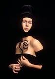Retrato da senhora medieval da sociedade elevada Imagens de Stock