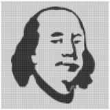 Retrato da silhueta de Franklin ilustração stock