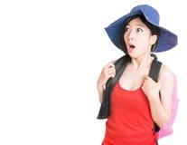 Retrato da viagem da jovem mulher Imagem de Stock Royalty Free