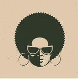 Retrato da vista dianteira de uma cara da mulher negra Fotografia de Stock