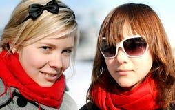 Retrato das amigas; Imagens de Stock Royalty Free