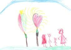 Retrato das crianças ilustração do vetor