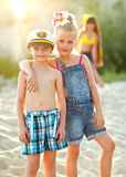 Retrato das crianças foto de stock