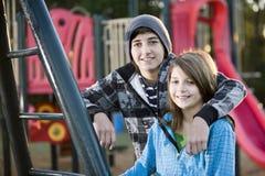 Retrato das crianças no parque Fotos de Stock Royalty Free