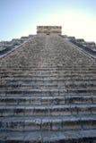 Retrato das etapas da pirâmide de Chichen Itza Imagem de Stock