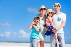 Retrato das férias em família imagens de stock