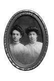Retrato das mulheres do vintage/quadro Fotografia de Stock