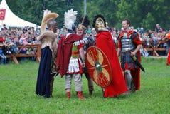 Retrato das pessoas em trajes históricos Imagem de Stock Royalty Free