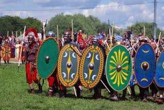 Retrato das pessoas em trajes históricos Foto de Stock