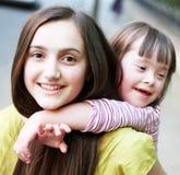 Retrato das raparigas bonitas Fotografia de Stock