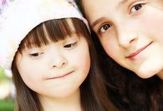 Retrato das raparigas bonitas Imagem de Stock