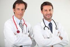 Retrato de 2 doctores Fotos de archivo