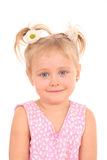 Retrato de 4 anos de menina idosa Fotos de Stock Royalty Free