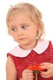 Retrato de 4 anos de menina idosa w Imagens de Stock Royalty Free