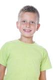 Retrato de 7 años del muchacho Fotografía de archivo