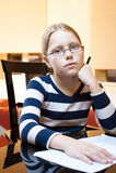 Retrato de 9-10 anos de estudante idosa Imagens de Stock Royalty Free