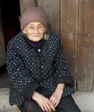 Retrato de 90 años de la mujer Fotos de archivo