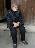 Retrato de 90 años del woma Imagenes de archivo