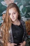 Retrato de 10 años de la muchacha Foto de archivo