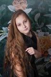 Retrato de 10 años de la muchacha Imagen de archivo libre de regalías