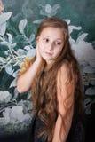 Retrato de 10 años de la muchacha Fotografía de archivo libre de regalías