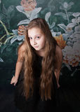 Retrato de 10 años de la muchacha Fotografía de archivo
