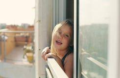 Retrato de 5 años de la muchacha Fotos de archivo libres de regalías