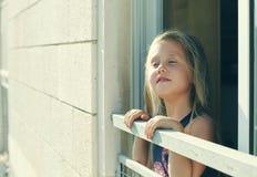 Retrato de 5 años de la muchacha Fotografía de archivo