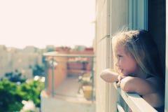 Retrato de 5 años de la muchacha Foto de archivo