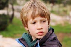 Retrato de 6 años del muchacho Imágenes de archivo libres de regalías