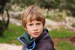 Retrato de 6 años del muchacho Fotografía de archivo libre de regalías