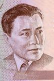 Retrato de Abdylas Maldybaev del dinero de Kyrgyzstans fotografía de archivo libre de regalías
