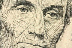 Retrato de Abraham Lincoln imagem de stock royalty free