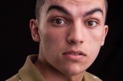 Retrato de adolescente caucásico joven, headshot del primer Foto de archivo