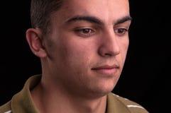 Retrato de adolescente caucásico joven, headshot del primer Fotografía de archivo