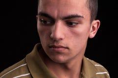Retrato de adolescente caucásico joven, headshot del primer Imagenes de archivo