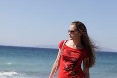 Retrato de adolescente en la playa Fotografía de archivo