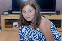 Retrato de adolescente joven bastante hermoso Imágenes de archivo libres de regalías