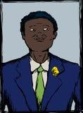 Retrato de adolescente preto orgulhoso no terno Imagens de Stock