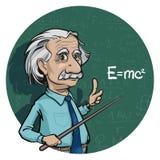 Retrato de Albert Einstein Ilustração do vetor Uso editorial somente ilustração do vetor