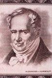 Retrato de Alexander von Humboldt do dinheiro alemão velho Fotos de Stock Royalty Free