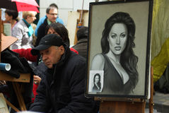 Retrato de Angelina Jolie fotos de stock
