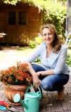 Retrato de 40 anos bonitos da mulher adulta Imagem de Stock