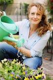 Retrato de 40 anos bonitos da mulher adulta Imagens de Stock
