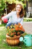 Retrato de 40 anos bonitos da mulher adulta Fotos de Stock