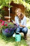 Retrato de 40 anos bonitos da mulher adulta Imagens de Stock Royalty Free
