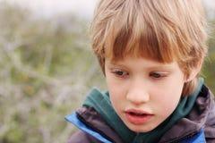 Retrato de 6 anos de menino idoso Imagens de Stock Royalty Free