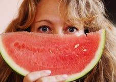 Retrato de 40 anos de mulher adulta Imagem de Stock Royalty Free