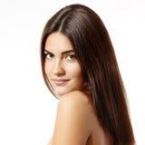 Retrato de apreciação alegre da beleza da menina adolescente com brigh bonito Fotografia de Stock